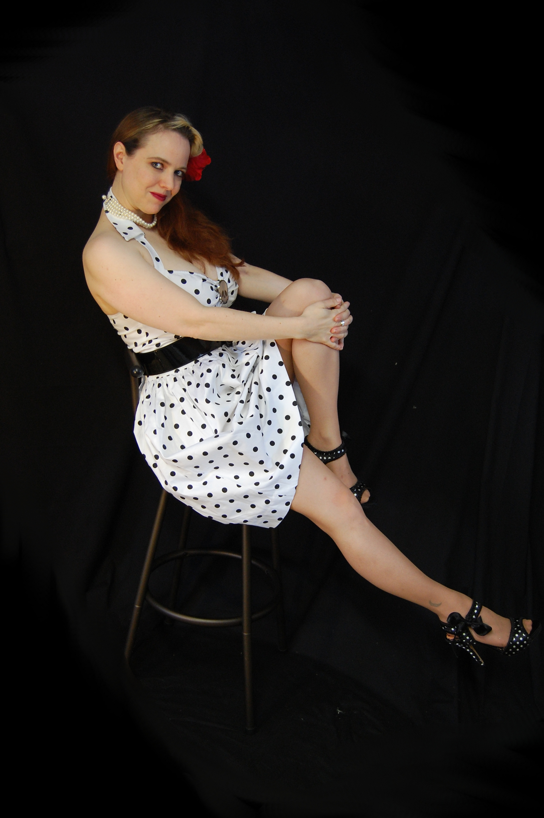 2010 Fife pinup white dress 0203