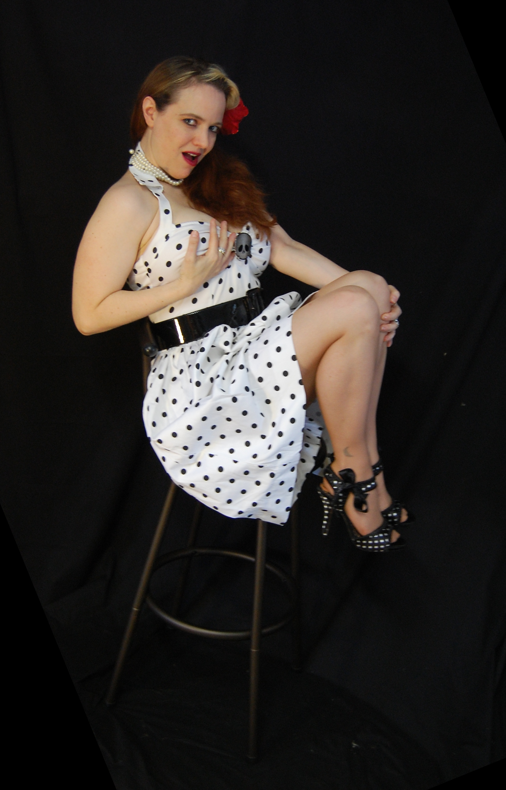 2010 Fife pinup white dress 0206