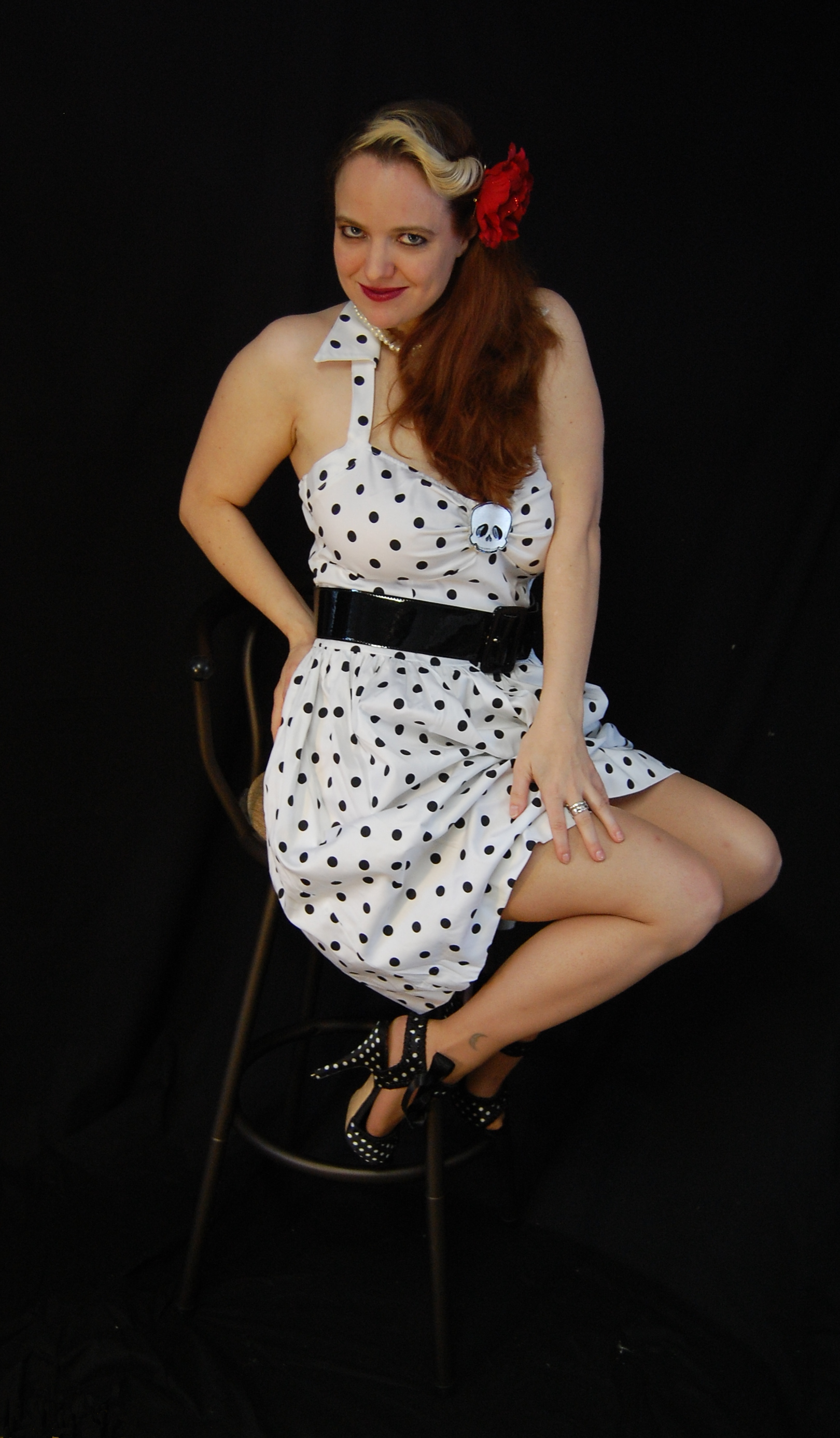 2010 Fife pinup white dress 0220