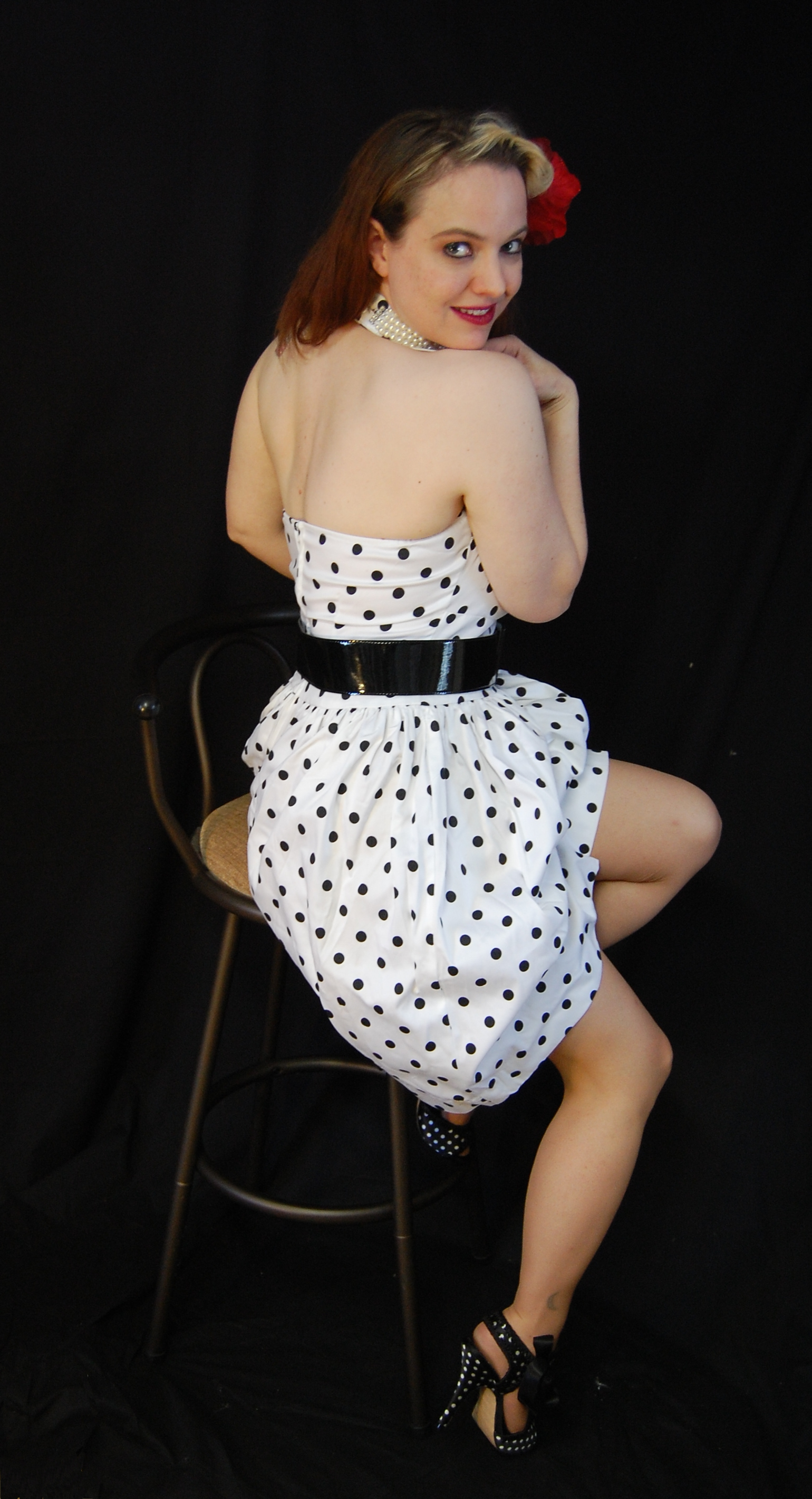 2010 Fife pinup white dress 0223