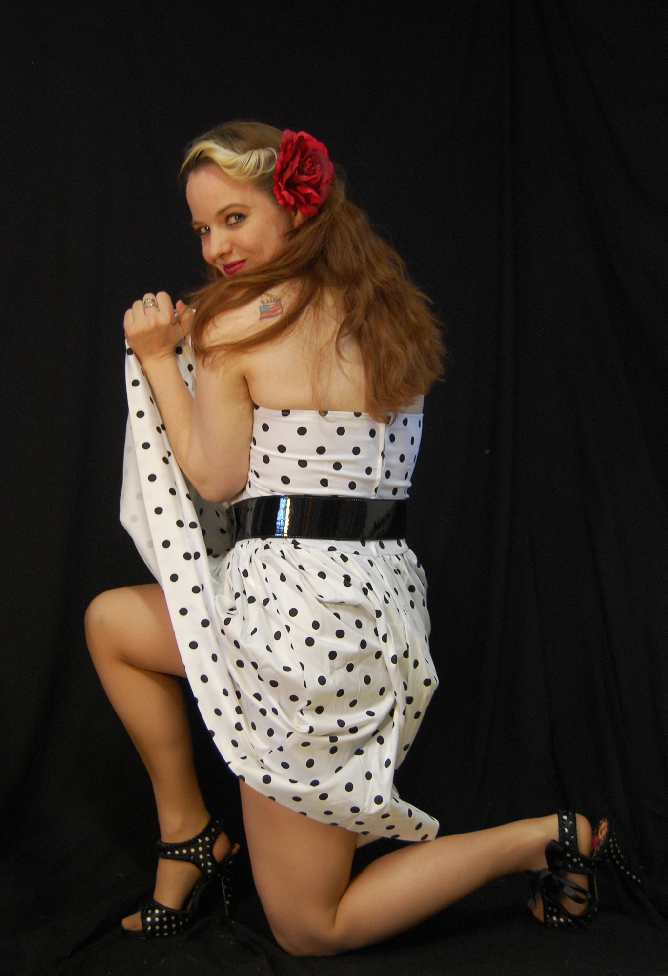 2010 Fife pinup white dress 0610