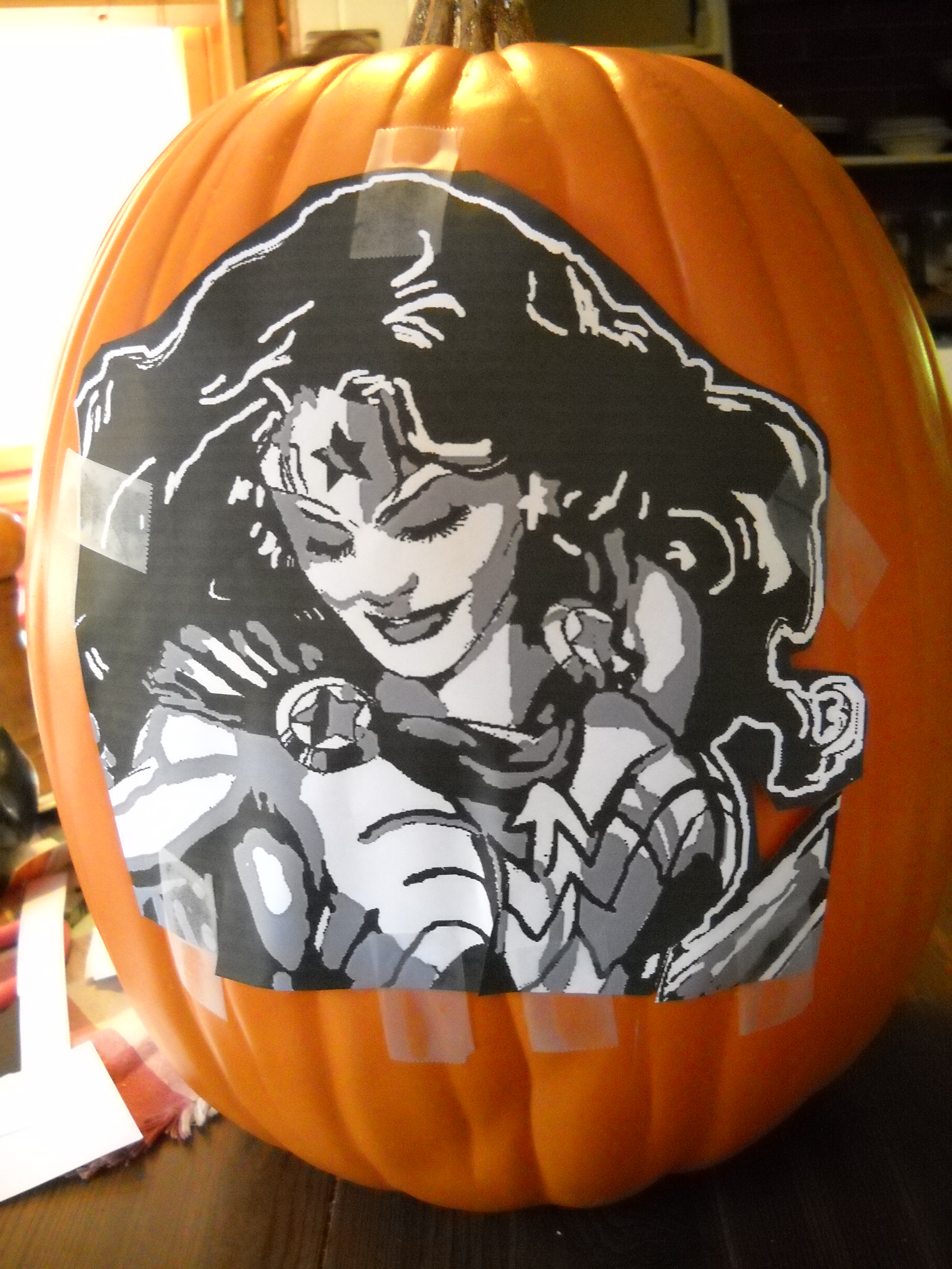 2011 Wonder Woman Pumpkin Carving Tutorial – Amber Unmasked
