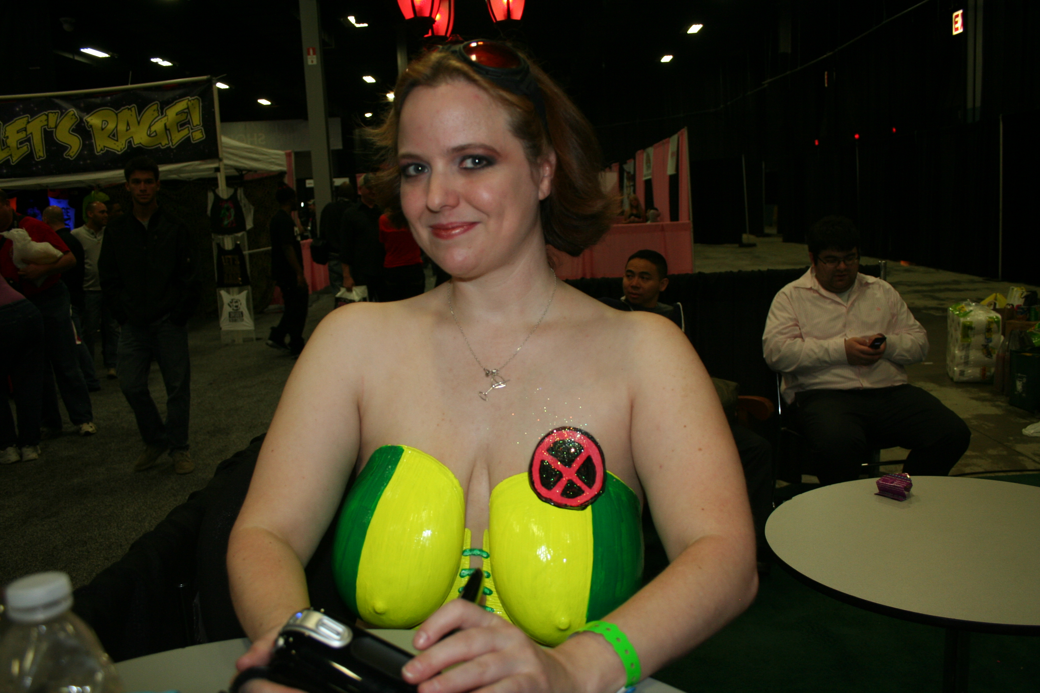 216 exxxotica 2012 bodypaint rogue x-men cosplay