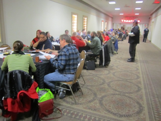 Dreamation NJ 2013 Gaming hallway tables gamers