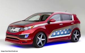 Wonder-Woman-Kia-Sportage-front-three-quarter-viewSm