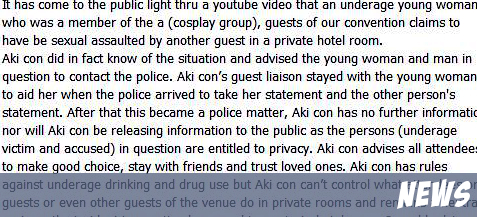 Another Con, Another Sexual Assault. AkiCon continues to hire the guy! (Trigger warning)