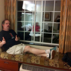 The author relaxing after a long day at GenCon2014