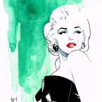 "MICHELLE DELECKI ""MARILYN"" PIECE FOR SUPERHERO WEEKEND"