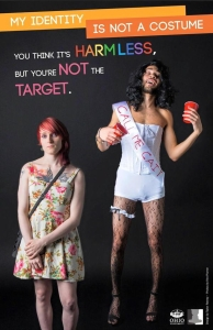 SARAH BROWN FEATURED IN OHIO UNI CAMPAIGN AGAINST OFFENSIVE COSTUMES.