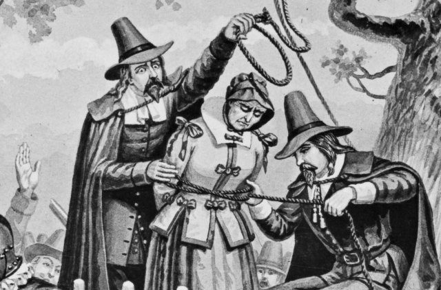 AMERICAN CITIZEN BRIDGET BISHOP HANGED AS A WITCH (Getty Images)
