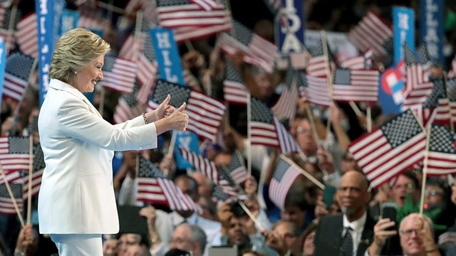 Getty Images: HRC at DNC