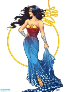 wonder woman formal gown