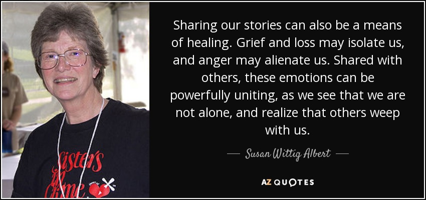 susan wittig albert quote on writing