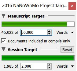 nanowrimo word counts