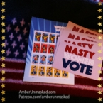 Nasty Women Vote postcards and Wonder Woman stamps