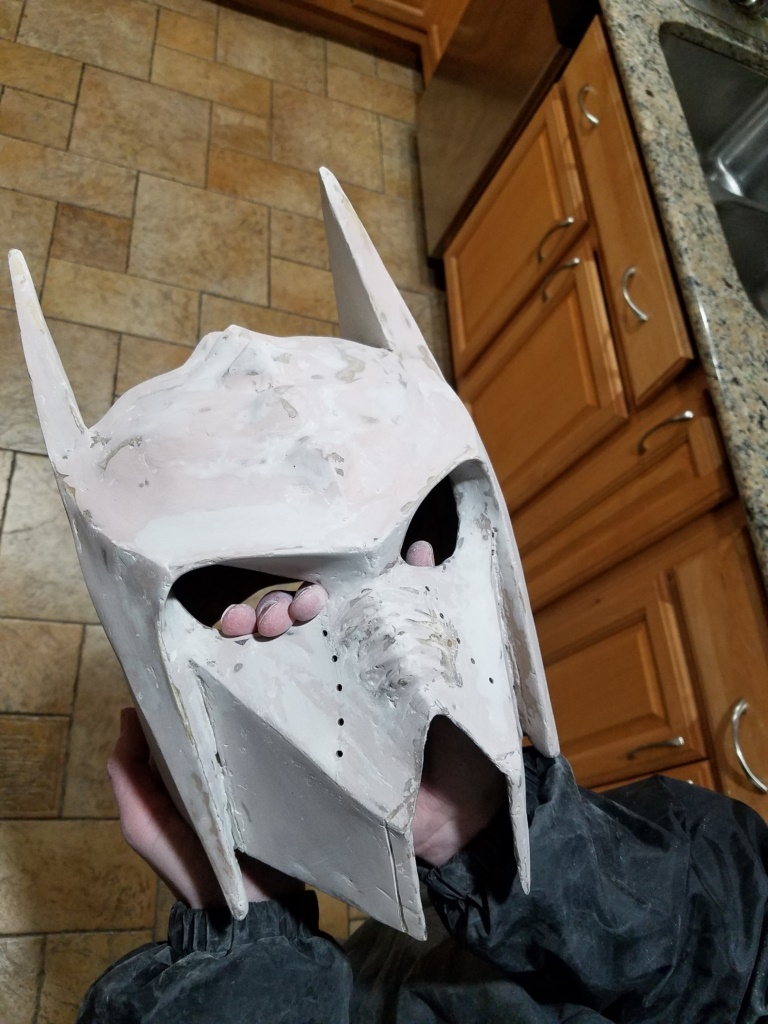 Klingon Batman helmet progress