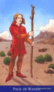 Page of Wands llewellyns classic tarot