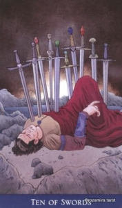 Ten of Swords llewellyns classic tarot
