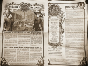 Steampunk World's Fair newspaper