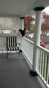 Gus on a railing