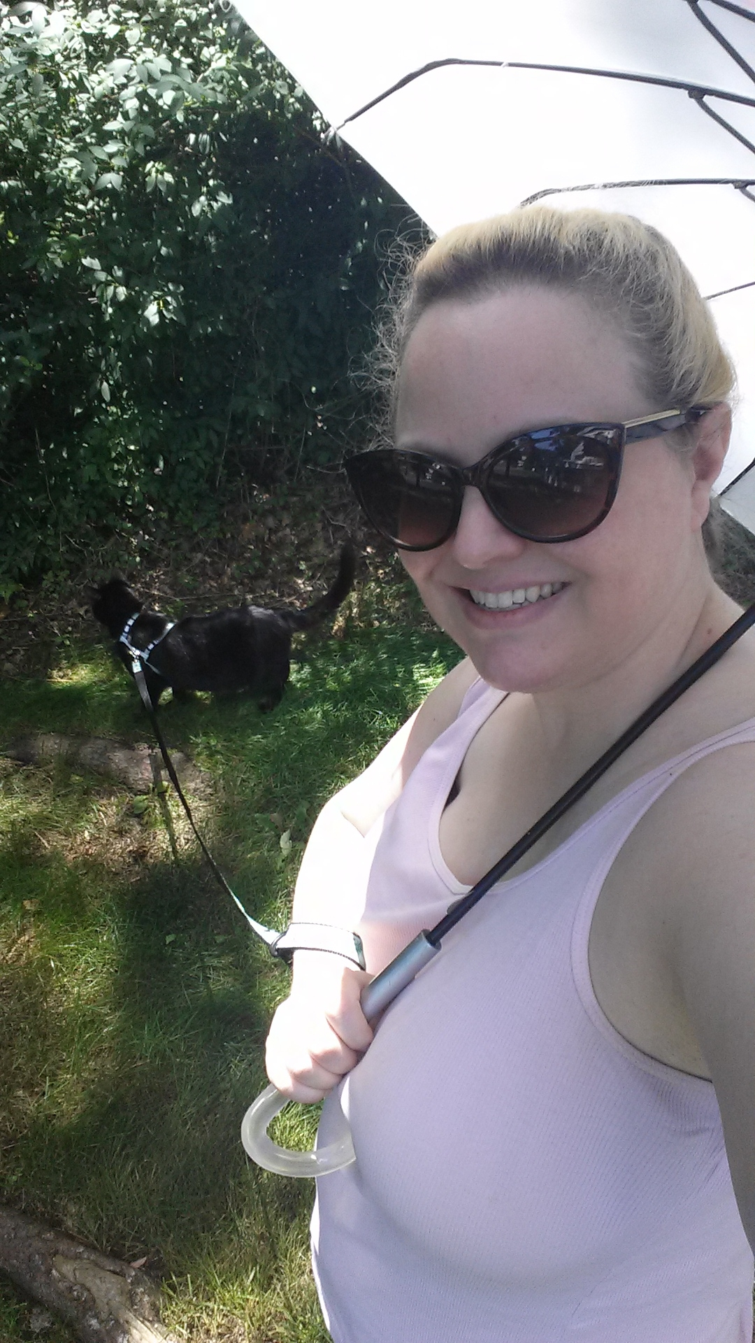 20170624 Amber and Gus on a walk
