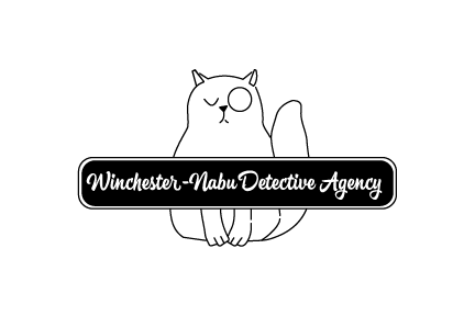cat logo black and white horizontal