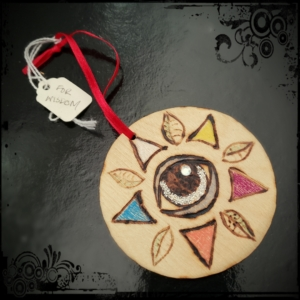 witchcraft wooden talisman