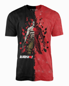 Bloodshot half red/black tshirt