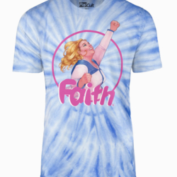 Faith blue tie-dye with Faith in center
