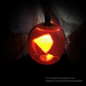 handmaid pumpkin finished and lit up