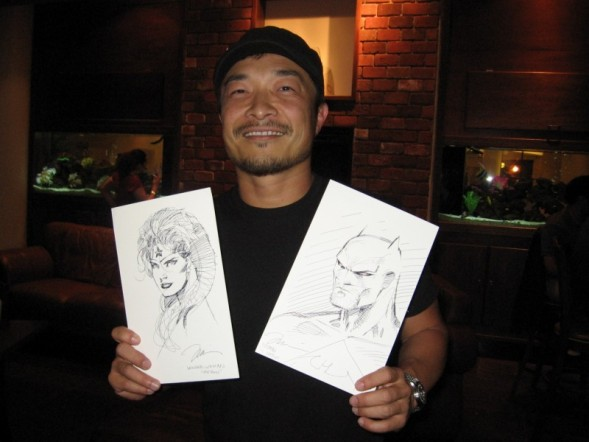 Jim Lee 2007 with sketches