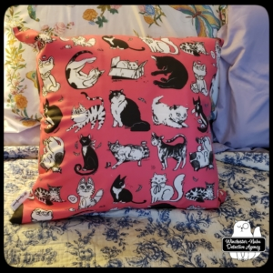 insider art pillow pink with Gus