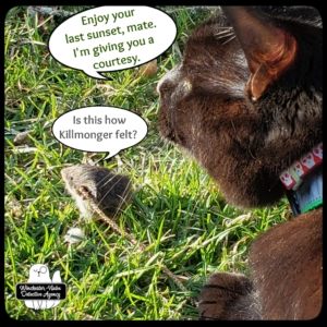 Gus with vole