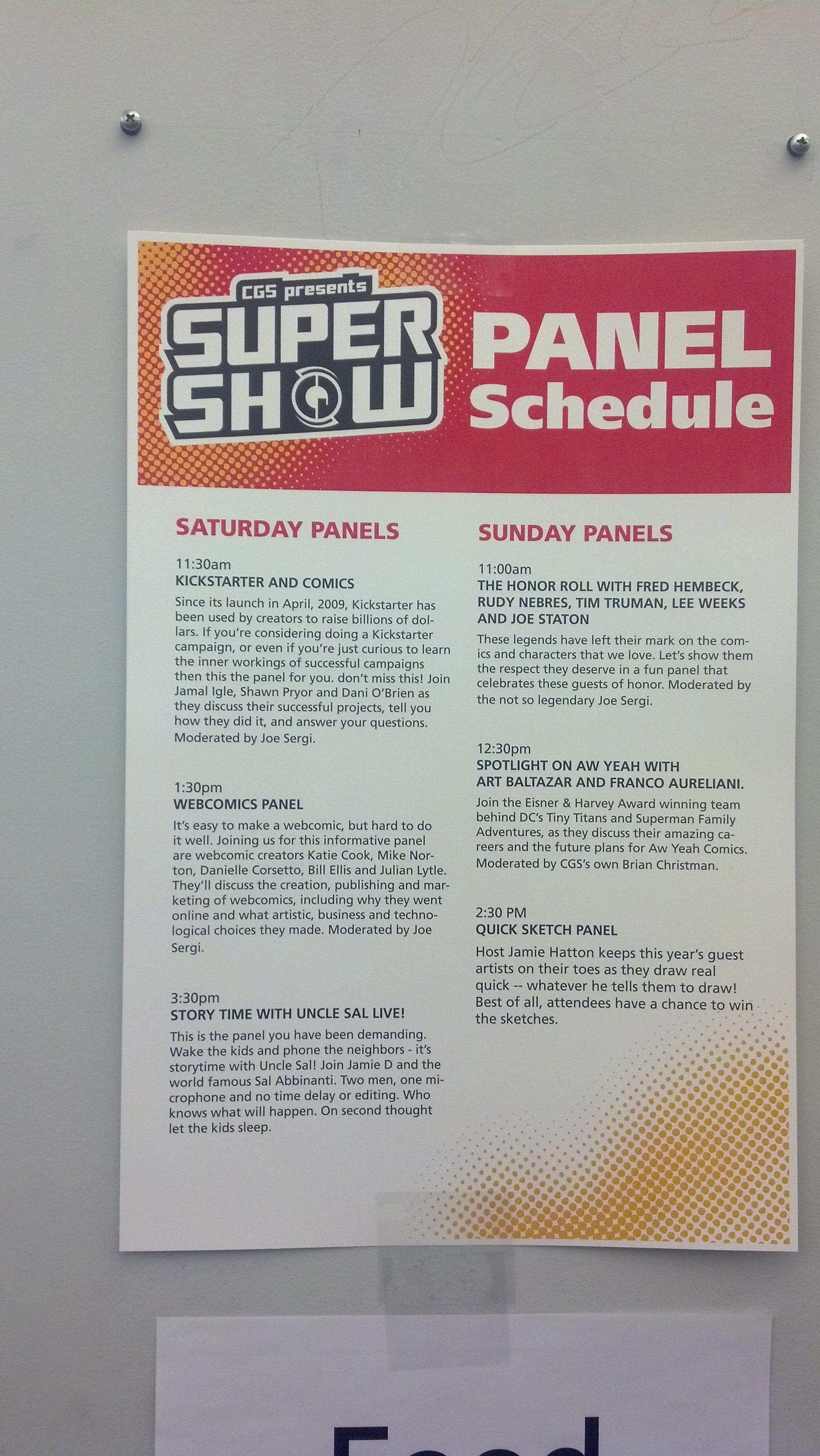 CGS Supershow 2013
