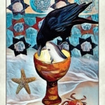 crow tarot page of cups