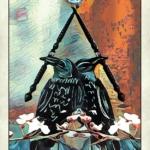 crow tarot 2 of wands