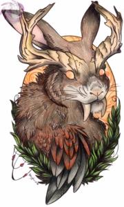 wolpertinger color illustration