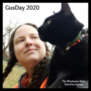 Gus Day selfie on amber's shoulder