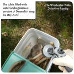 bucket of bones from jersey devil-deer skeleton cleaning