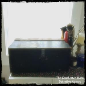 antique crate for bones