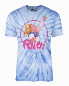 Faith blue tie-dye with Faith in center