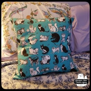 insider art pillow teal with Gus