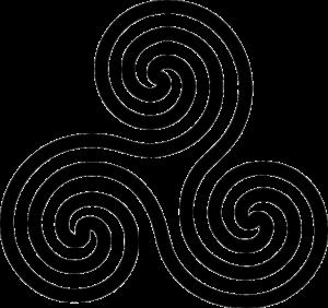 spiral triskelion